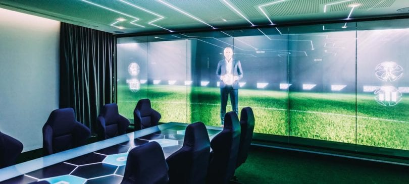 Der SAP Interactive Data Space, ein Innovationsprojekt der SAP und TSG Hoffenheim.