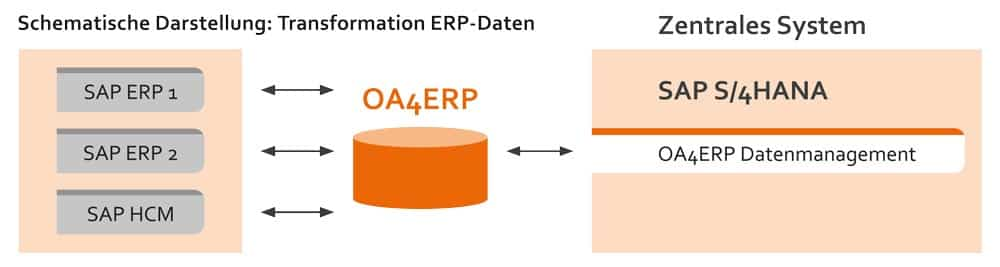 Grafik Transformation ERP Daten